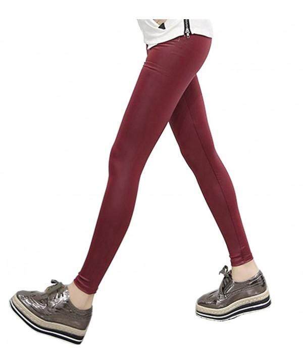 Leather Korean Fashion Elastic Leggings