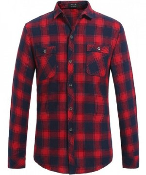 SSLR Gingham Button Casual Flannel