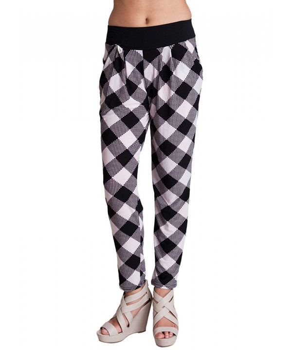 Ladies Checkered Graphic Banded Lounge