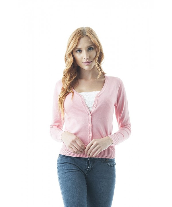 Cardigan Sweater Sleeves Medium Blush