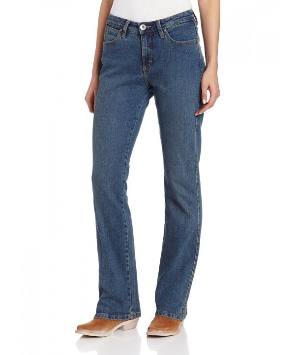 Wrangler Womens Instantly Slimming Mid Stone