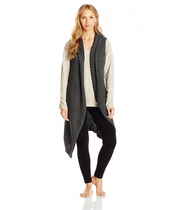 iRelax Womens Hooded Cardigan Charcoal