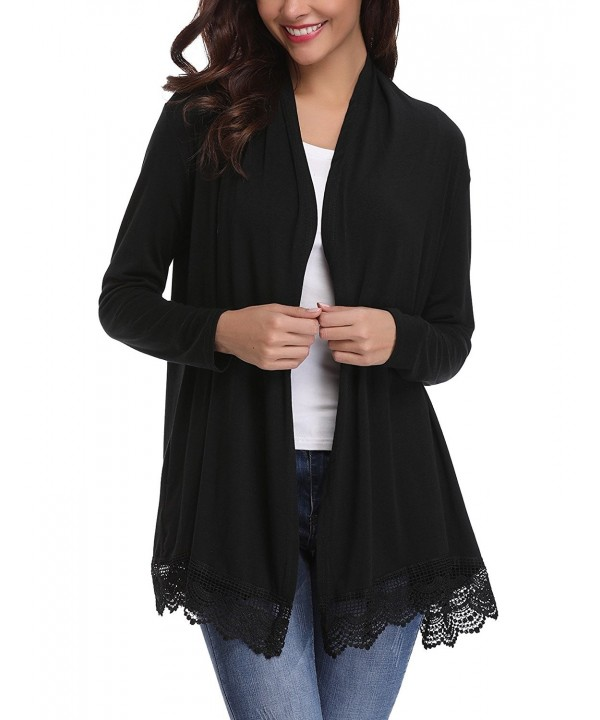 iClosam Womens Spliced Cardigan Sweater