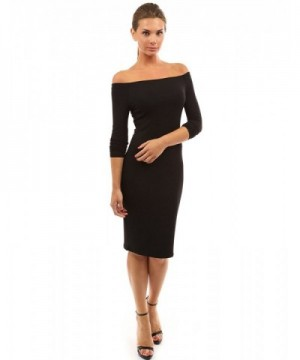 PattyBoutik Womens Shoulder Sleeve Dress