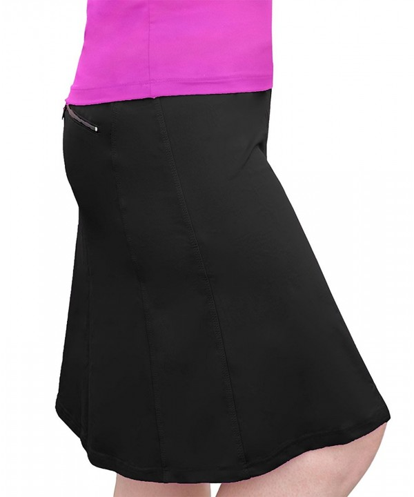 c304e8071dce Women's Modest Knee-Length Workout Sport Skirt With Built-In Shorts ...
