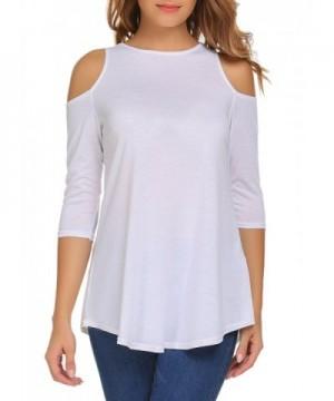 Aceshin Womens Shoulder Blouses Tshirts