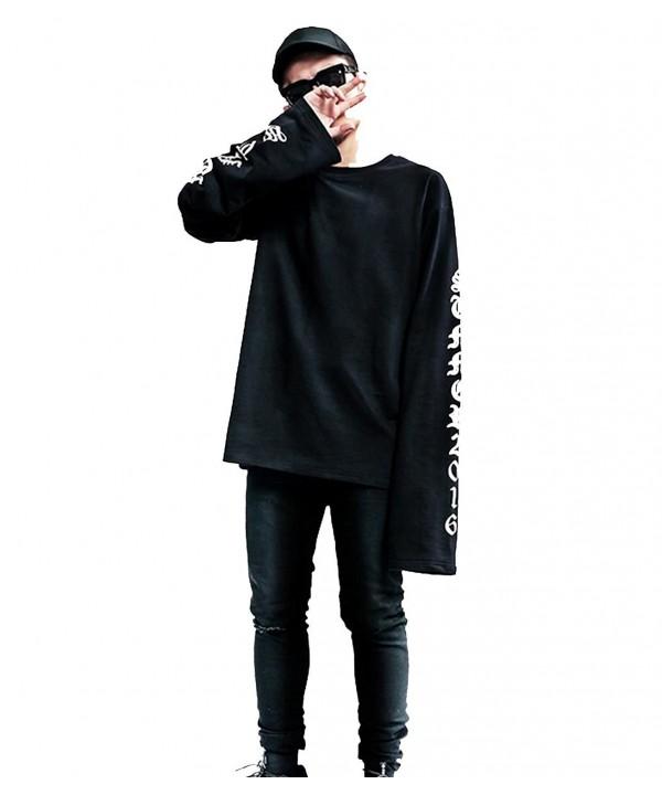baguet Sleeve Letter Pullover Sweatshirt