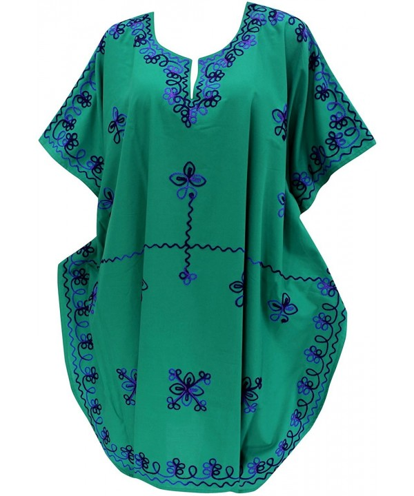 Leela Womens Embroidered Swimwear Caftan