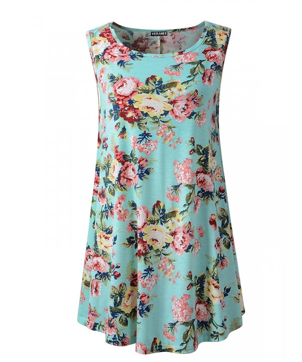 Veranee Womens Sleeveless Summer Floral