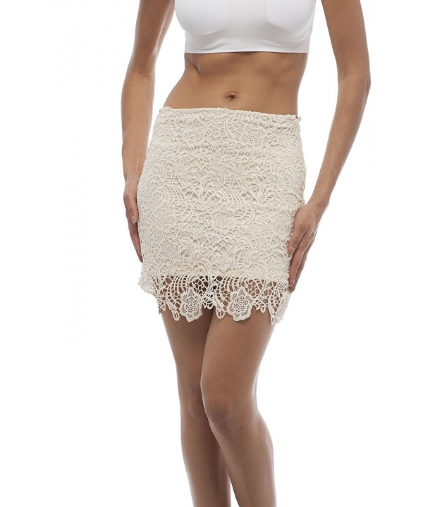 Crochet Skirt Zipper Large Ivory