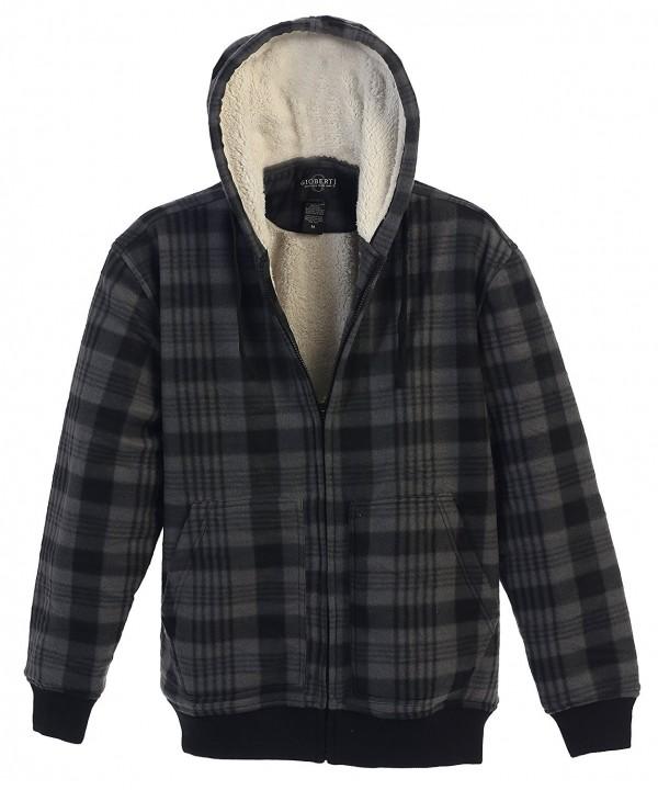 Gioberti Checkered Flannel Hoodie Charcoal