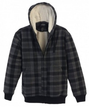 Gioberti Checkered Flannel Hoodie Charcoal