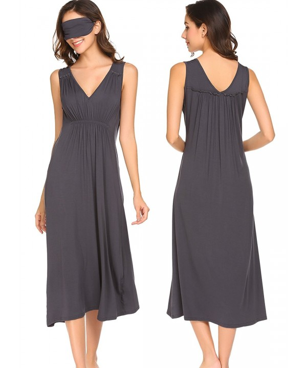 Pagacat Womens Sleeveless Nightgown Sleepwear
