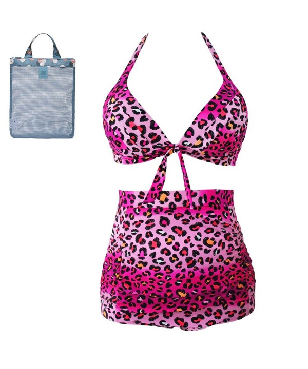 Pyramid Womens Two piece Swimsuit Leopard