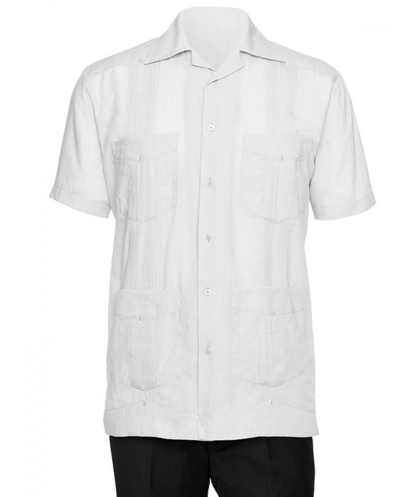 Gentlemens Collection Sleeve Cotton Guayabera