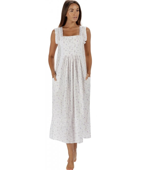 Cotton Nightgown Pockets XS 3X Rebecca