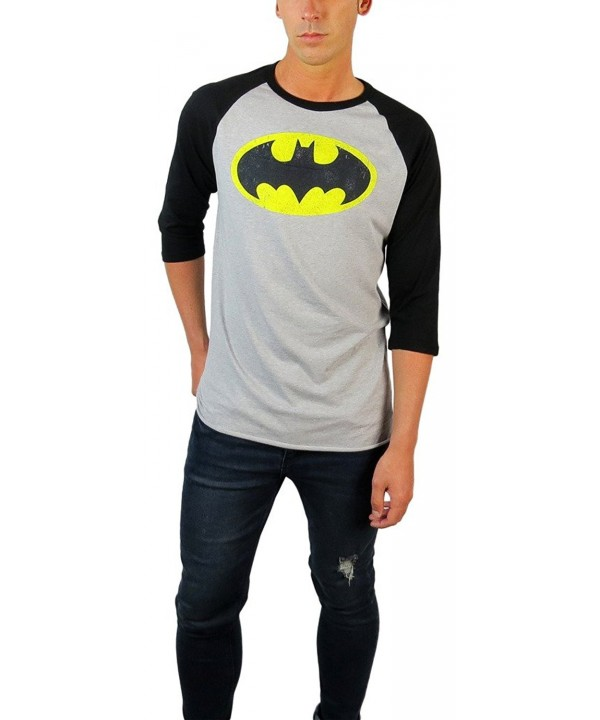 Comics Batman Distressed Sleeve Heather