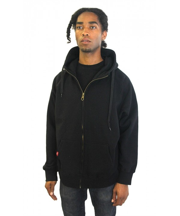 Rich Cotton Fleece Hoodie Black