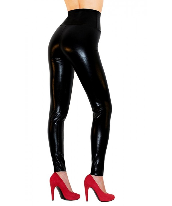 Sodacoda Womens Waist Leather Leggings