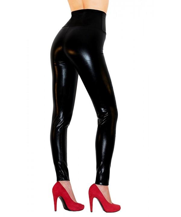 Sodacoda Womens Waist Leather Leggings