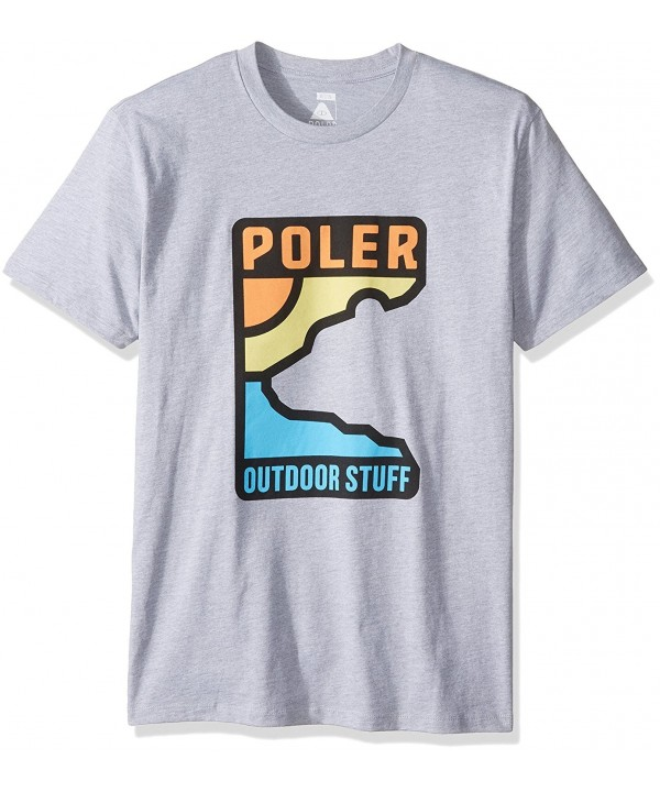 Poler Mens T Shirt Heather Large