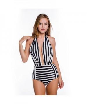 Vintage Swimsuit Fashion Swimwear Backless