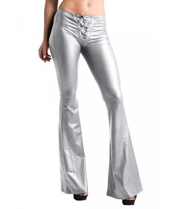 Pink Queen Womens Metallic Bootcut