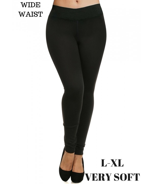 Womens Solid Stretchy Length Leggings