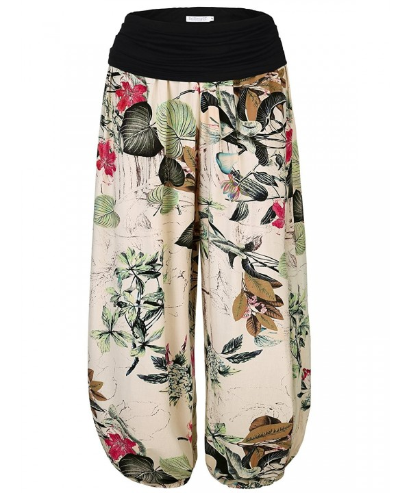 BAISHENGGT Womens Floral Elastic Apricot Floral