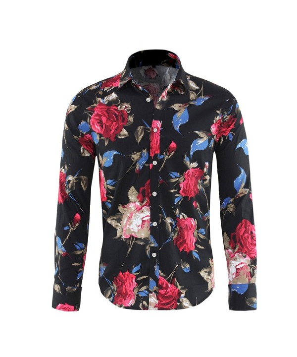 Cloudstyle Stylish Button Sleeve Floral