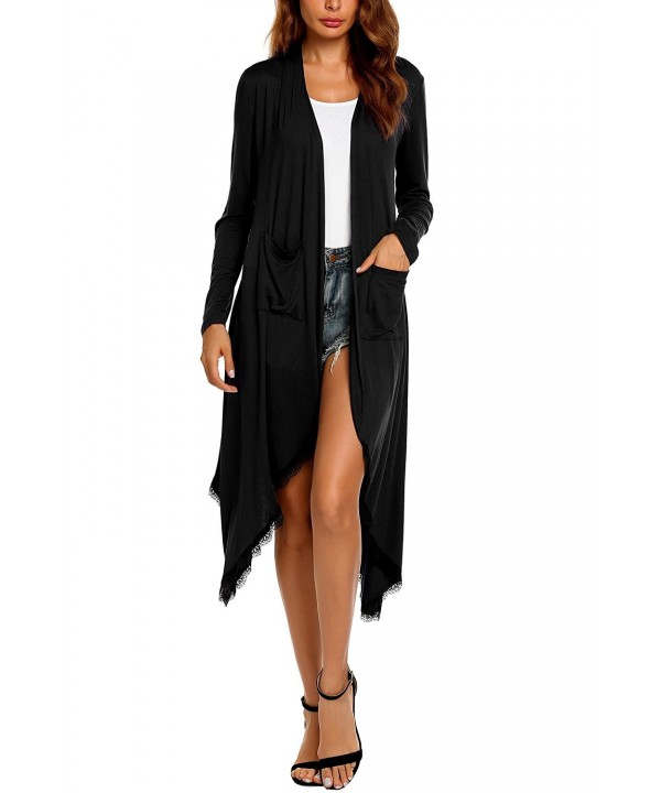 Zeagoo Women Open Long Cardigan