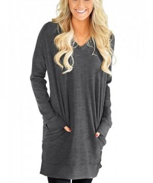 RongCun Womens Sleeves Sweatshirt X Large