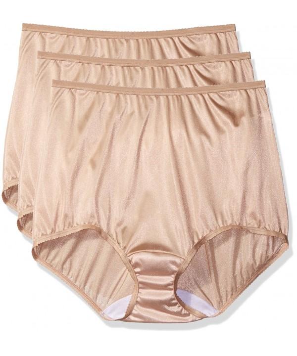 3d2b63bd6 Women s Plus Size Panties-Nylon Brief (3 Pack) - Nude - CZ125GXZVER