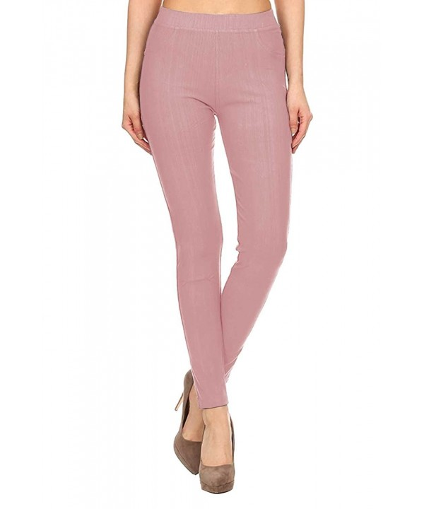 Full Length Cotton Jeggings Mauve