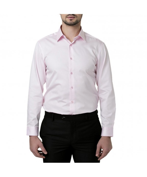 Shirts Sleeve Solid Cotton Business
