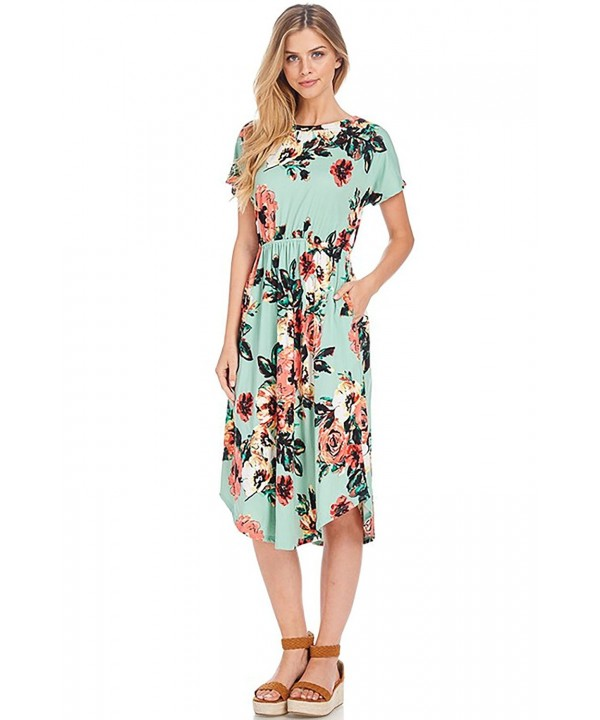 Shopglamla Floral Flared Sleeves Pocket
