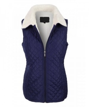 LE3NO Womens Sherpa Quilted Puffer