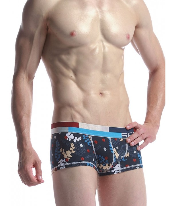 SEOBEAN Trunk Boxer Underwear Multi Navy