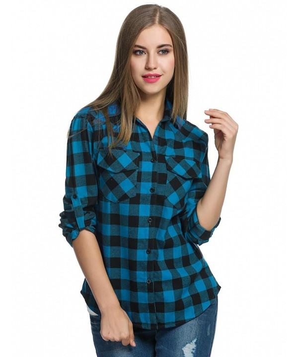 GBoon Flannel Casual Boyfriend Blouses