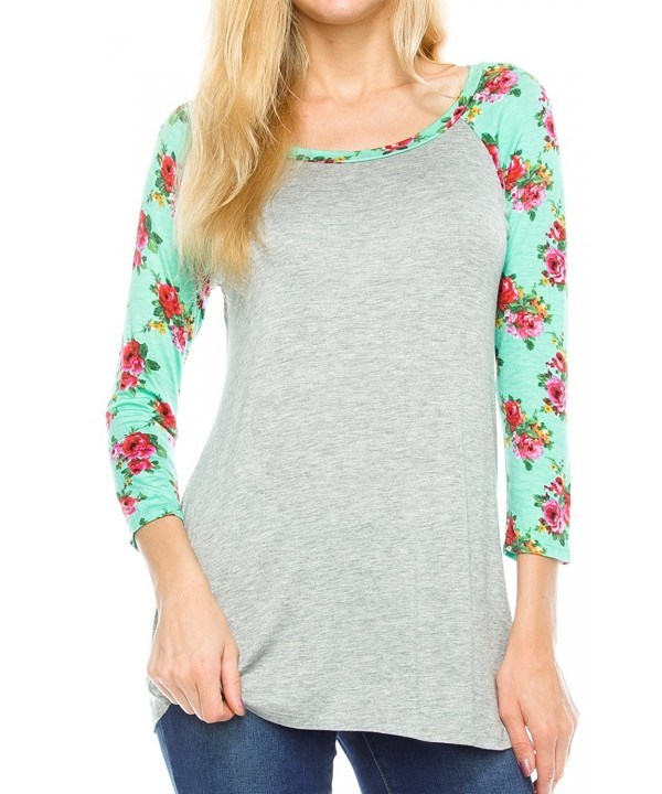 KAYLYN KAYDEN Womens Floral Sleeves