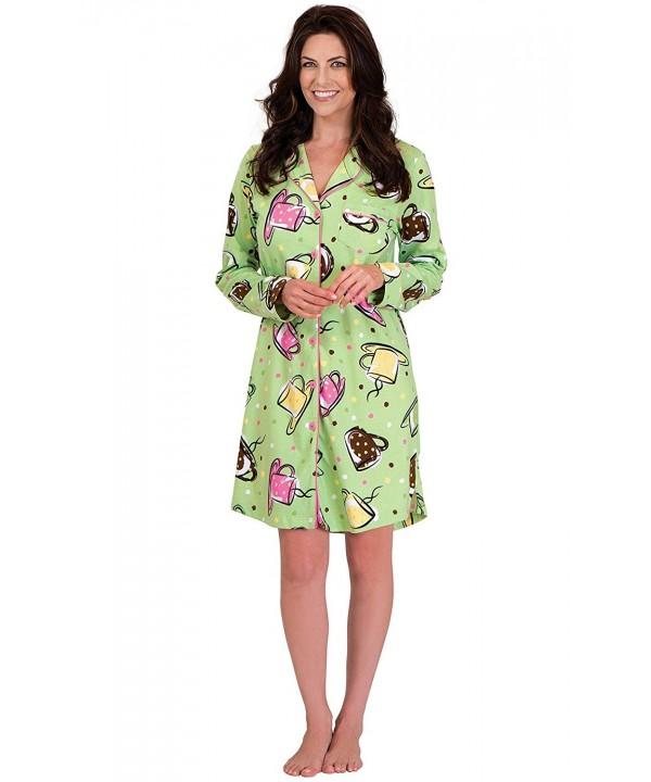 PajamaGram Womens Cotton Coffee Sleepshirt