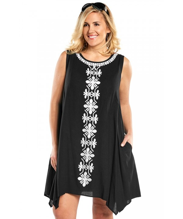 Embroidered Sleeveless Cover up Always Me