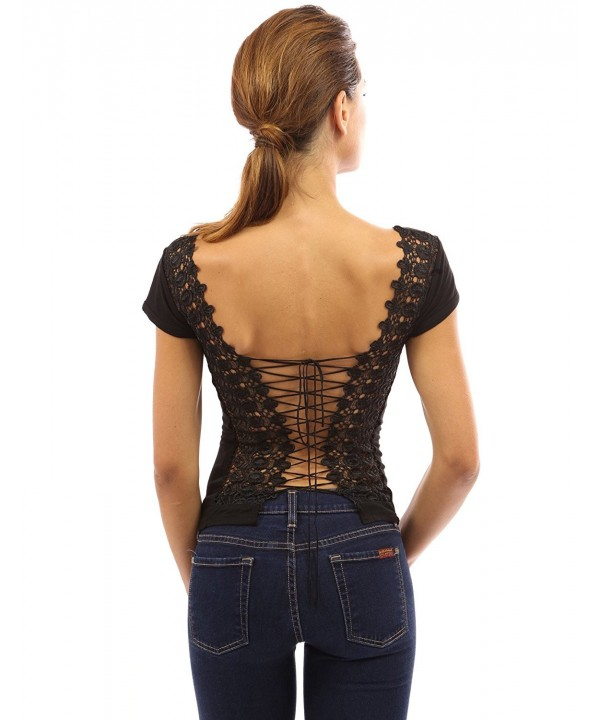 PattyBoutik Womens Corset Embroidered Black
