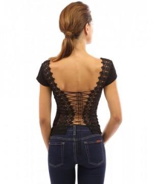PattyBoutik Womens Corset Embroidered Black
