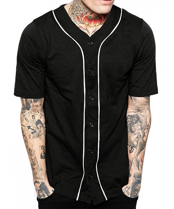 Baseball Button Jersey Hipster Shirts