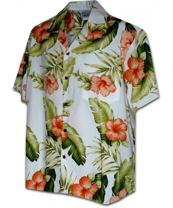 Hawaiian Shirts Orange Hibiscus 410 3743