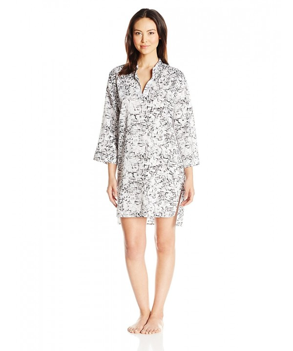 Natori Womens Mazed Sleepshirt Black