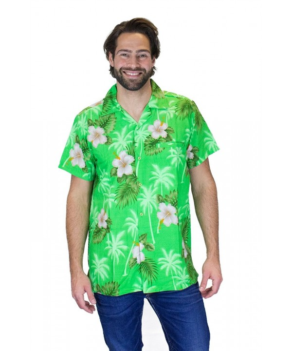 Funky Hawaiian Shirt White Flower