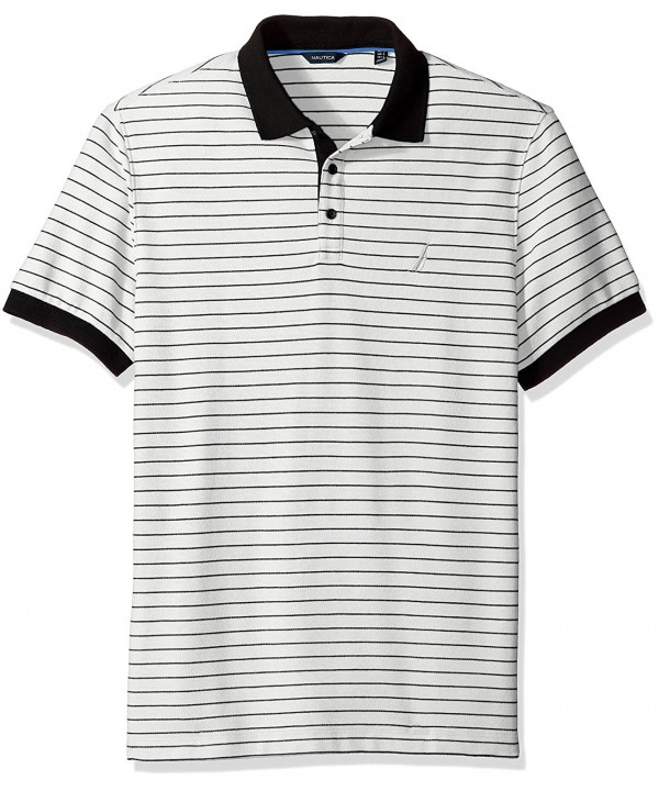Nautica Short Sleeve Striped Marshmallow