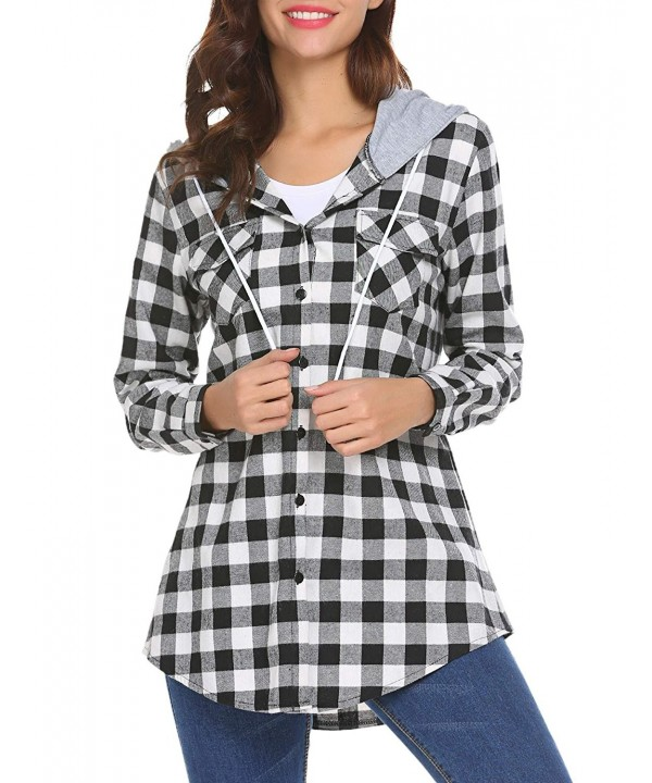 Zeagoo Sleeves Boyfriend Button Down Hoodie